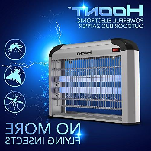 Hoont Electric Indoor Zapper Bug Zapper Trap Killer Catcher – Protects 6,000 Sq. and Killer Insect