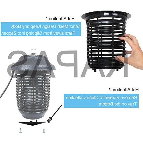 Kapas Electric New Hanger Outdoor Bug Killer for Mosquitoes, Flies, Gnats, Pests Other Coverage