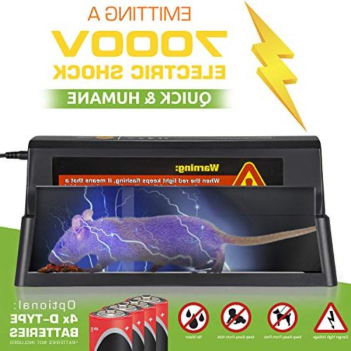 Electronic - Trap Killer Rats, Squirrels – Use - 7000v Shock Instant Exterminator – Mess-Free Non-Toxic That Works {New &