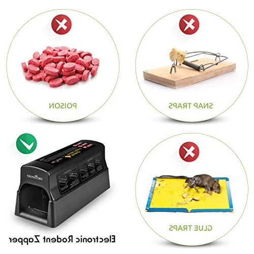 Electronic - Effective Killer Rats, Squirrels Use 7000v Shock Mess-Free & Non-Toxic