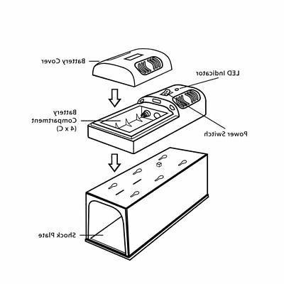 Electronic Control Trap Rat Pest Mice Electric