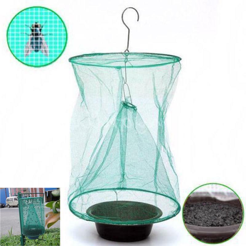 fly net bag trap catcher kills flies