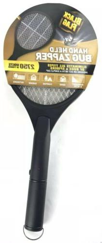 Electric Zapper Fly Killer Held Racket - Flag