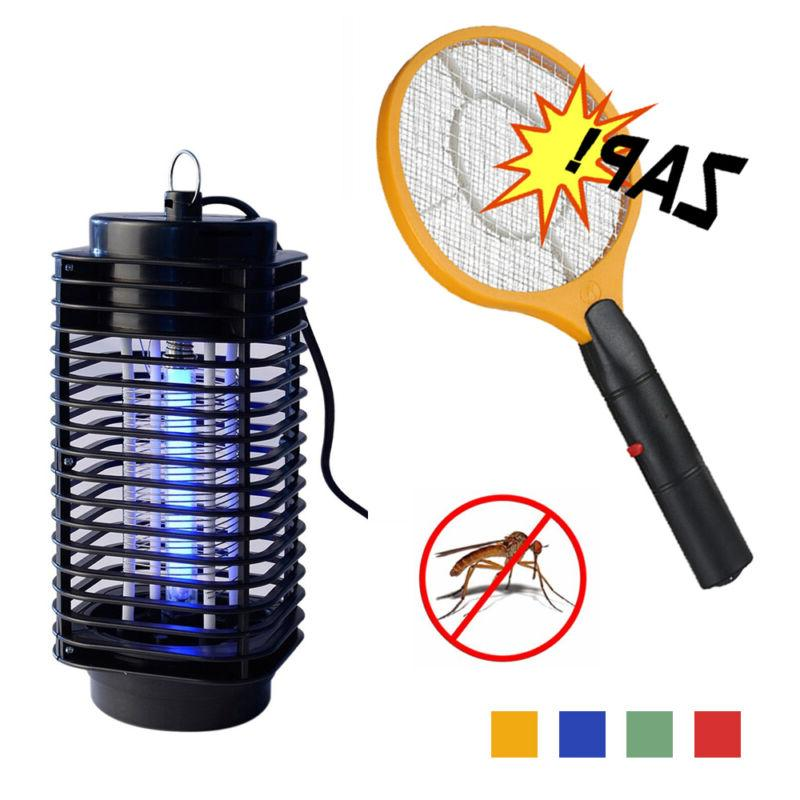 Electric Hand Held Bug Zapper Insect Zapper Fly Swatter Rack