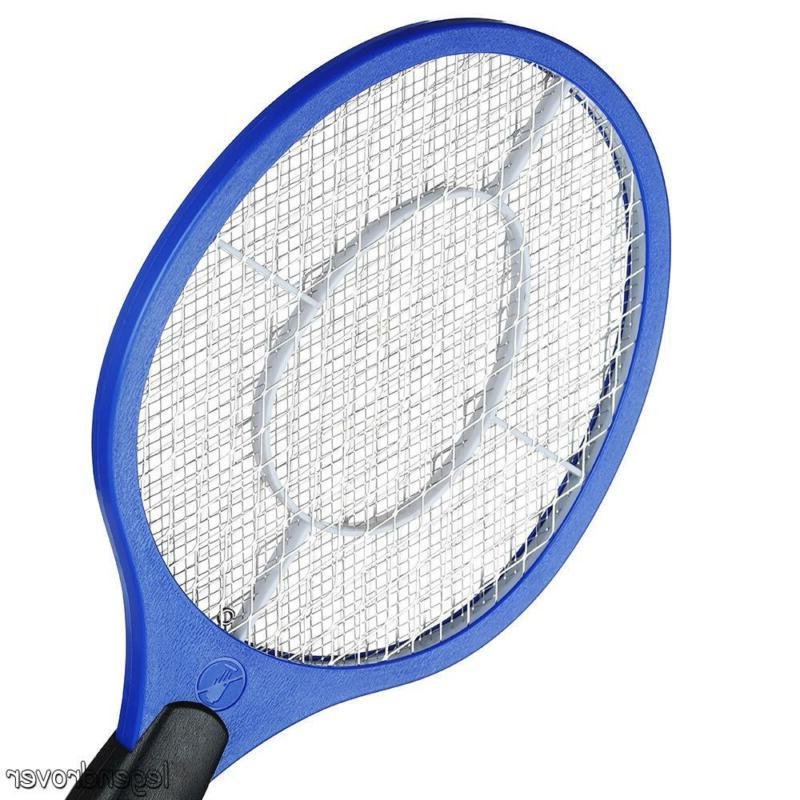 Electric Hand Held Zapper Insect Swatter Racket Mosquito Killer