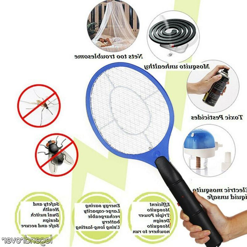 Electric Hand Held Zapper Insect Zapper Fly Swatter Racket