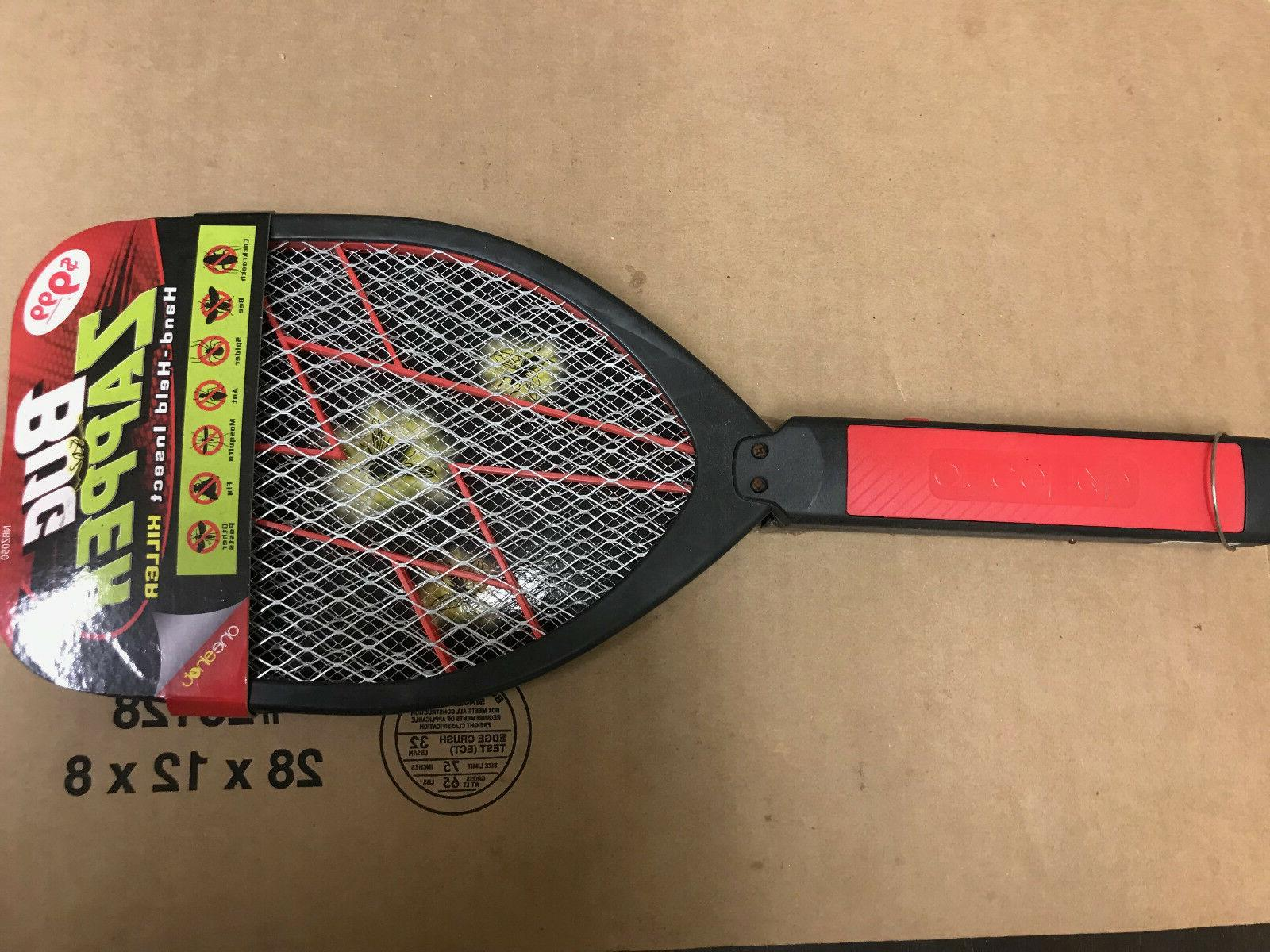 handheld tennis racket electronic fly swatter mosquito
