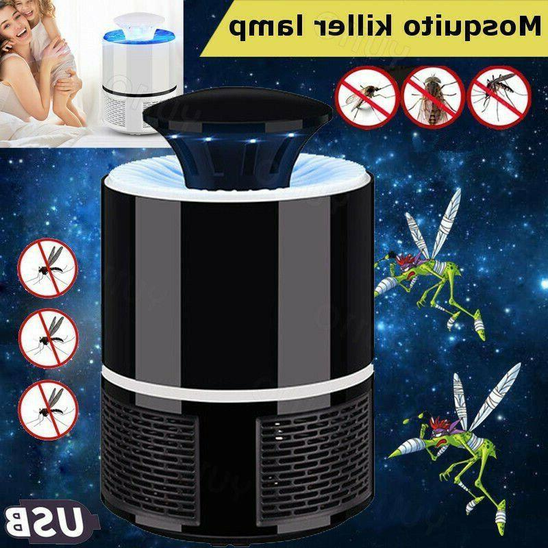 led electric fly bug zapper killer light