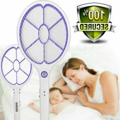 led electric handheld racket mosquito swatter bug