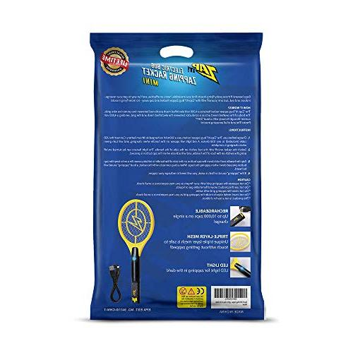 - Rechargeable Killer and Bug Racket - - Charging, LED Safe