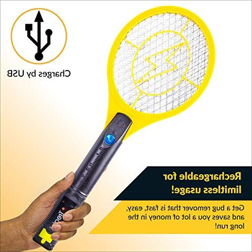 Tregini Mini Electric Swatter Zapper Net Built-in - Mosquitoes and