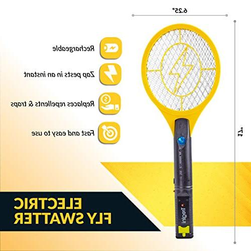 Tregini Mini Swatter Zapper Safe to Touch Net and Built-in - Mosquitoes Bugs