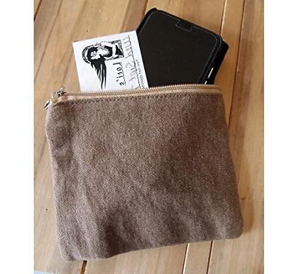 mini flat zipper jute pouch