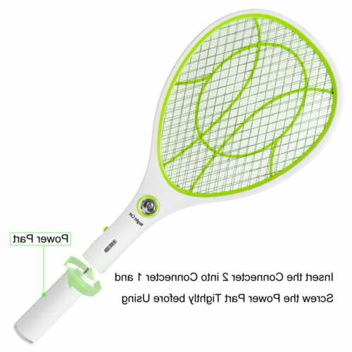 Mosquito Swatter USB Rechargeable Electric Bug Zapper Racket