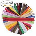 Paxcoo 100Pcs 9 Inch Nylon Coil Zippers Bulk for Sewing Craf