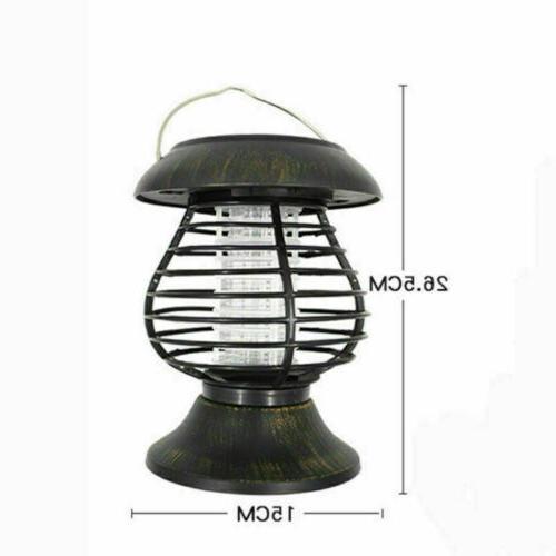 Outdoor Solar Lamp Mosquito Killer Bug Insect Repeller Zapper USA