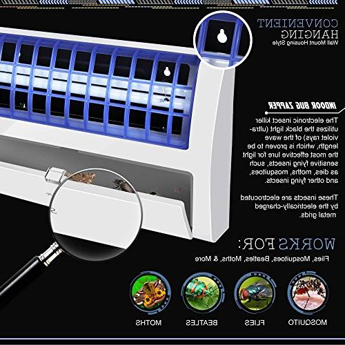 SereneLife Mosquito Killer Trap with Adhesive Pad and UV Lamp or Ultraviolet Black Light - Bugs, Flies, Beetles
