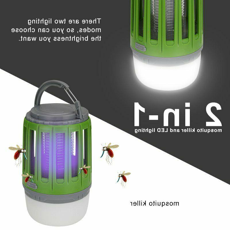 Rechargeable Bug Zapper LED Flashlight Outdoor Tent Light