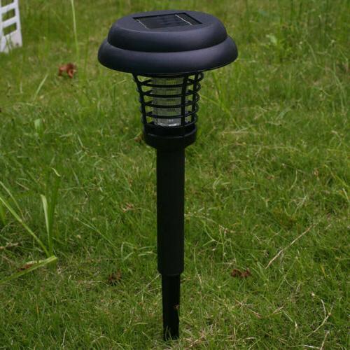 Solar Mosquito Pest Zapper Killer Garden Mounted