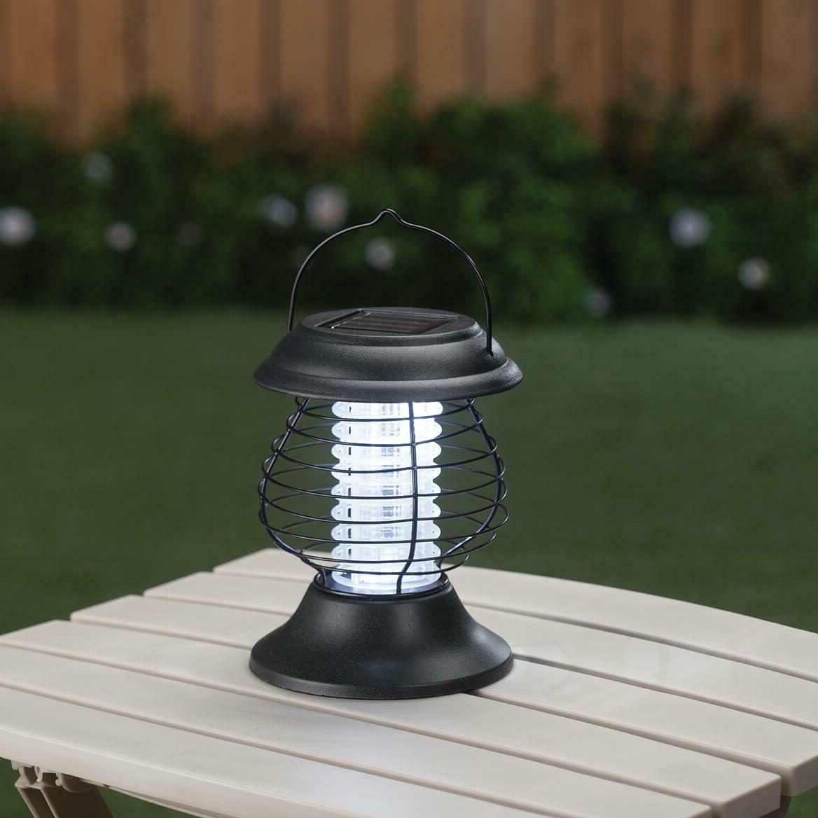 solar powered lighted tabletop hanging mosquito bug