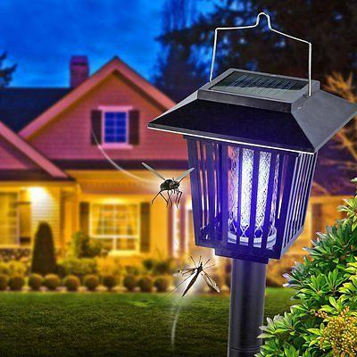 solar powered zapper enhanced outdoor flying insect