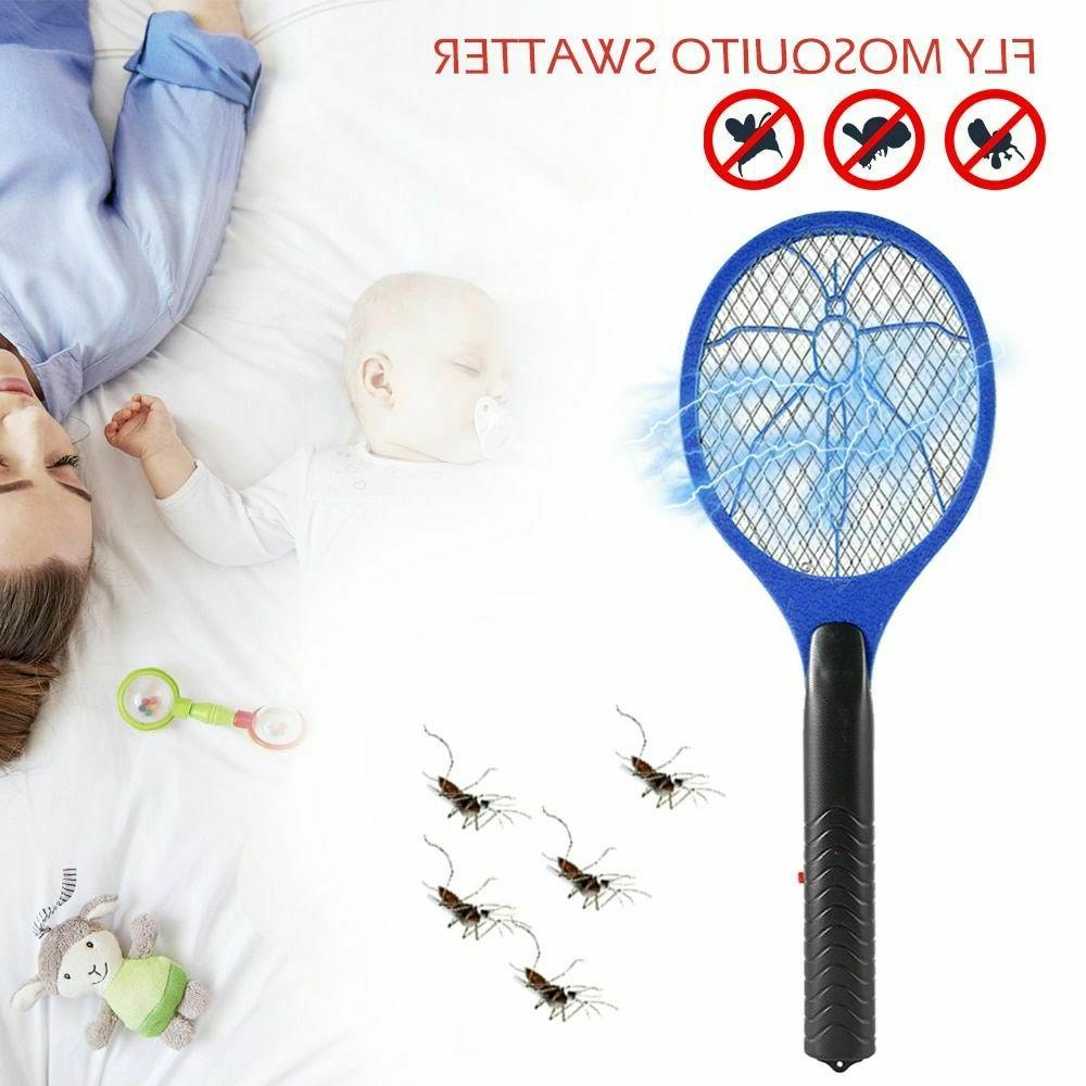 Swatter Killer Mosquito Racket Held Zapper Hand