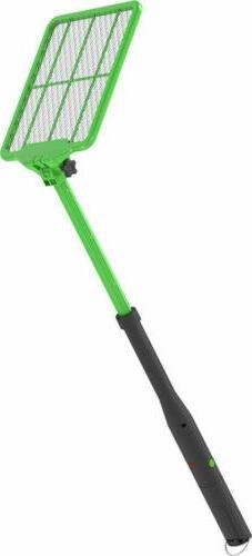 zr 8000 extendable handheld bug zapper green