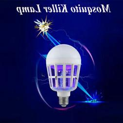 LED Bulb E27 15W Anti-Mosquito Insect Zapper Flying Moths Ki