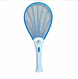 LED Rechargeable Electric Fly Mosquito Zapper Swatter Bug Ra