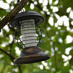Led Solar Garden Bug Zapper Mosquito Killer Lamp UV Lantern