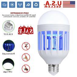 Light Zapper LED Lightbulb Bug Mosquito Fly Insect Killer Bu