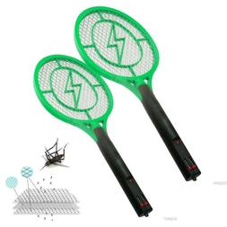 Lot 2 Rechargeable HandHeld Bug Zapper Insect Fly Swatter Ra