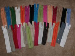 "Lot of 30 Grab Bag Assorted Small 3"" to 4""  ZIPPERS for Doll"