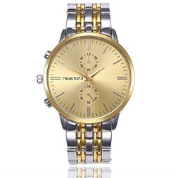 Euone Luxury Watch Stainless Steel Watch for Men's Quartz An