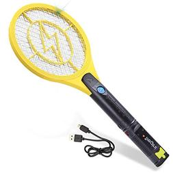 mini electric fly swatter rechargeable