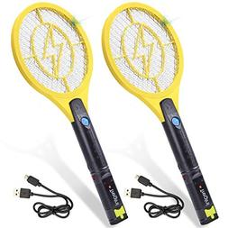 Tregini Mini Electric Fly Swatter 2 Pack – Rechargeable Bu