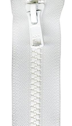 "YKK VSP06-501 Mini Vislon Separating Zipper, 6"", White"