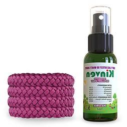 Kinven Mosquito Repellent Bundle - Bracelets & Spray Repel M