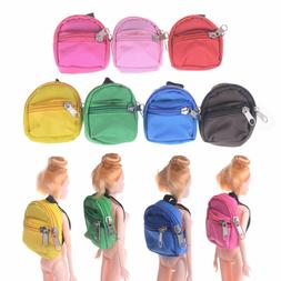 New MIni Zipper Canvas Bag Backpack for Barbie for 1/6 BJD S