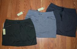 NWT Womens Tangerine Active Skort Skirt Olive Green Lt Gray