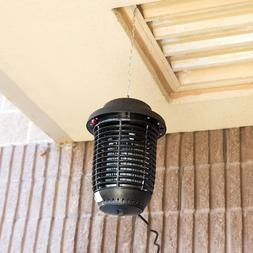 Outdoor Black Plastic Flying Insect Trap / Bug Zapper Lanter