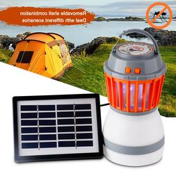 Outdoor Electric Solar Power LED Camping Lantern UV Zapper M