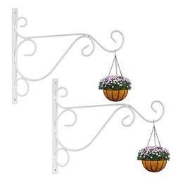 2 Pack Plant Brackets Wall Hanging Hooks Hanger for Bird Fee