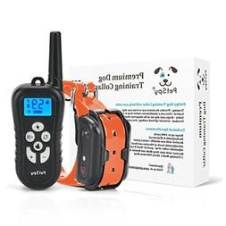 PetSpy Remote Dog Training Shock Collar for Dogs with Beep,
