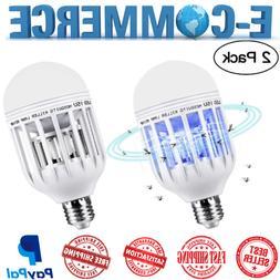 Repelent Bug-Zapper For Home & Garden, 2 Lightbulbs Led Lamp