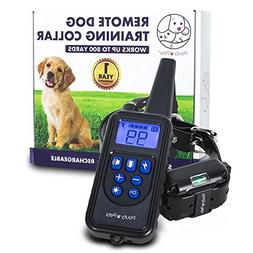 Shock Training Collar For Dogs - Rechargeable With Remote -