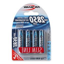 ANSMANN 2850mAh Slimline NiMH AA Rechargeable Batteries