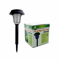 Solar LED Light & UV Bug Zapper Non Electric Rechargeable Ba
