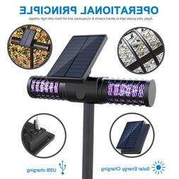 Solar Mosquito Killer Lamp Outdoor Waterproof UV LED Lawn Li