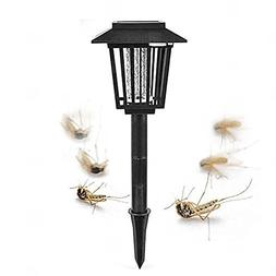 Caleb Chai Solar Mosquito Zapper Outdoor Backyard Flying Ins